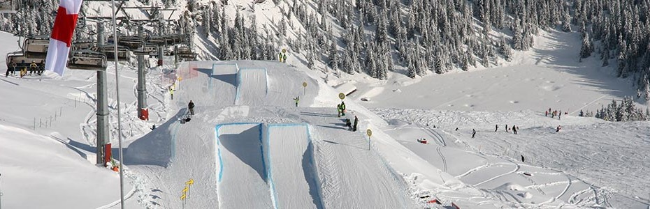 Course de slopestyle