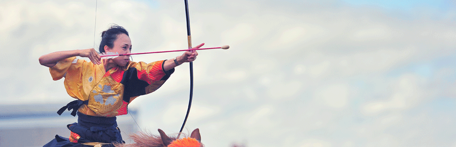 Yabusame sport samouraïs